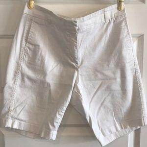 White J Crew Bermuda shorts size 10